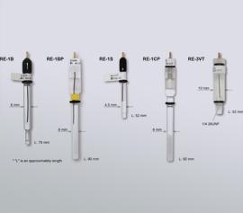 Verschiedene Ausführungen von Referfenzelektroden für unterschiedliche Einsatzzwecke