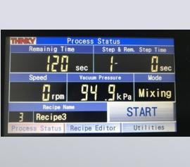 Touch-Panel für die Bedienung mit Echtzeitmonitor und Statusanzeige
