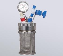 miniclave inert Druckreaktor – Materialien Glas/PTFE - kein Metall in Kontakt mit Medium