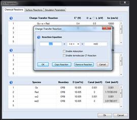 DigiElch basiert auf einer vollständig Impliziten Finite-Differenzen-Methode (IFD) [1,2]. Simulationen dauern damit Sekunden anstatt Stunden, wie mit der einfacheren und ineffizienteren Explizite Finite-Differenzen-Methode (EFD) [3]