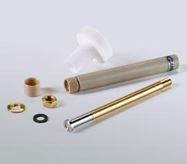"""Evaluierungsmesszelle für Batteriematerialien (LIB) incl. Halter mit vier Normschliffen (NS14/20) für 25 ml Zellvolumen; """"Foil electrode holder (large) – 935-00085"""" für Rundproben in Einzelteilen"""