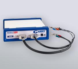Gamry Interface 5000 Potentiostat/Galvanostat/ZRA zur Klirrfaktoranalyse bzw. Total Harmonic Distortion (THD), Galvanostatic Frequency Modulation an Brennstoffzellen (galv. EFM), Physikalische Elektrochemie (PHE) und Elektrochemische Impedanz-spektroskopie (EIS) incl. schwebende Masse (galv. Trennung von der Schutzerdung)