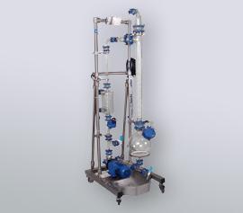 6 Liter Gaswäscher mit Auffangwanne im Edelstahlgestell, mobile Ausführung width=