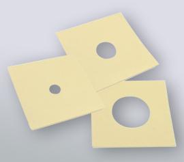 Klebemasken 3M Modell 470 (1 cm2, 3 cm2 oder 10 cm2) für Beständigkeit gegenüber längerer Einwirkung von Chemikalien in Galvanikanwendungen