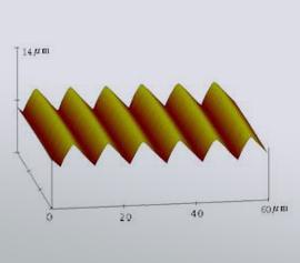 Richardson Grating Lab – AFM-Aufnahme eines geritzten Beugungsgitters