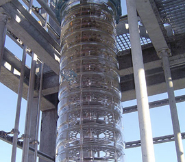Glas-Kolonne im Außenbereich