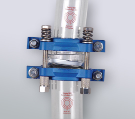 Herzstück der Buchi-Glas-Verbindung – Kugel-Pfanne System mit einzigartiger Dichttechnik, TA-Luft konform