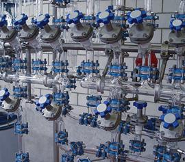 Rohrleitungen und Ventiltechnik aus Glas (Borosilikatglas 3.3)