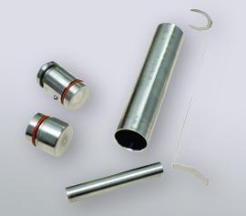 SPEX Kryomühle 6875D Freezer/Mill® - kleine Mahlgarnitur Edelstahl, Mahlkapazität 0,1 bis 5 g (Artikel-Nummer 6781S), einsetzbar mit allen Freezer/Mill®-Modellen
