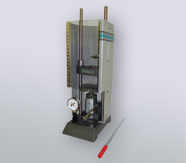 Manuelle SPEX Handhebelpresse 3621 Typ Carver® mit geschlossener Sicherheitstür und abnehmbarem Handhebel