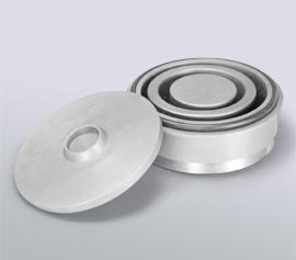Scheiben-Schwingmühle SPEX 8530 Shatterbox® - Mahlbehälter aus gehärtetem Stahl (Artikel-Nummer 8501)