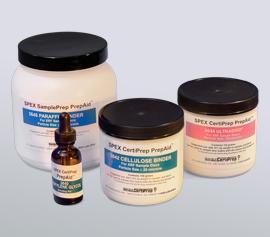 Auswahl an SPEX Bindemittel, Mahl- und Presshilfsmittel (u.a. UltraBind® sowie Produkte auf Zellulose- bzw. Paraffin-Basis)