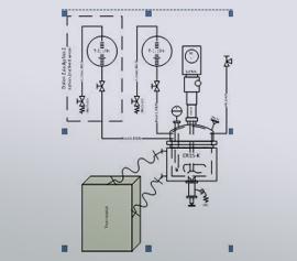 Temperierung einer Glasanlage über einen Thermostaten