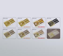 Inter-Digital Elektroden mit Gold-, Platin-, ITO-, Kohlenstoff-Elektroden mit oder ohne Passiv-Membran