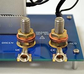Batteriehalter für zuverlässige Messergebnisse mit allen Gamry Systemen incl. Reference 3000 incl. 30K Booster