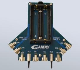 Gamry Batterie-Halterungen mit niedriger Induktivität für zwei 18650 Zellen mit echter 4-Punkt Kelvin-Kontaktierung optional in Serie