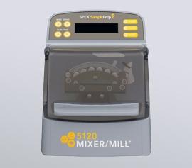 Laborkugelmühle SPEX SamplePrep 5120 Mixer/Mill® mit geschlossenem Deckel, betriebsbereit, Frontansicht
