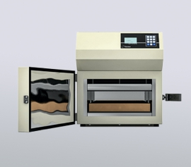 Thermtest HFM-100 Wärmefluss-Plattenapparatur – Probenraum