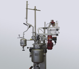 Druckfester Destillationsaufbau am Büchi kiloclave width=